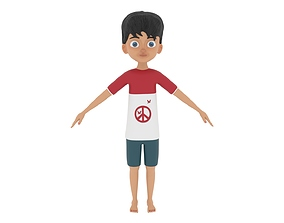 kind 3D Boy Character
