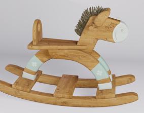 Wooden rocking horse 3D model