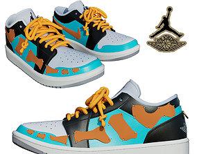 DINO 2 Air Jordan 1 LIANG LOW Shoes PBR 3D model