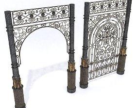 Wrought lattice and portal 3D model