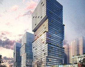 Commercial Plaza 3D model building