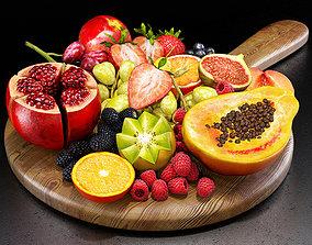 Fruits set 01 3D