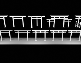 10 types of Torii-gates in Japan 3D model