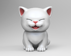 3D printable model Cute Kitten V2 STL for
