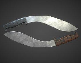 Kukri machete 3D model