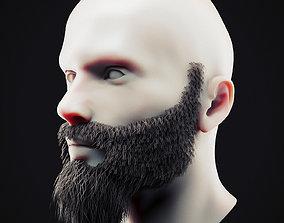3D asset Beard Low Poly 13