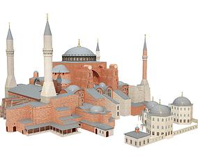 Hagia Sophia landmark 3D model