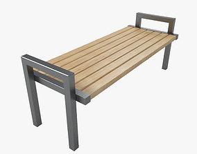 3D model Outdoor Bench 9