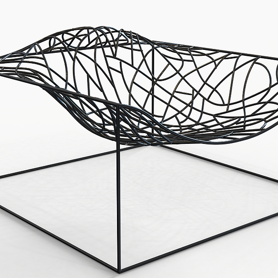 viccarbe ad hoc Chair 3D Model