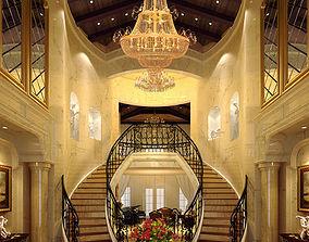 Realistic Hall Scene 01 luxury 3D