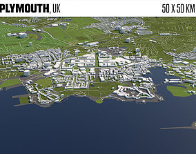 Plymouth UK 3D model
