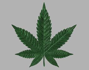 Marijuana leaf 3D print model