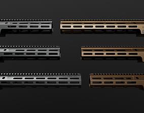 Geissele Super Modular Rail MK16 MLOK AR15 3D asset