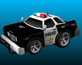 3D asset Cartoon Police Car