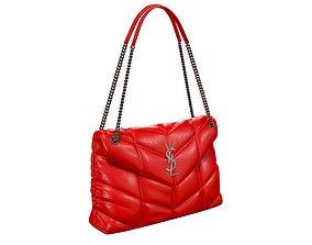 3D model YSL Saint Laurent Loulou Puffer Bag Red