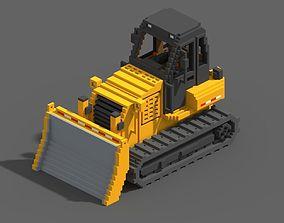 Voxel Bulldozer 3D asset