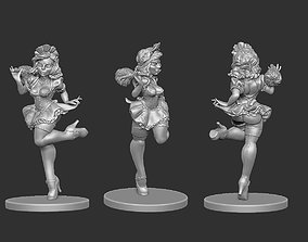 pinup French Maid Pinup 3D print model