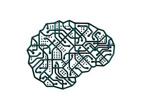 3D asset Electronic Circuit Brain v1 006