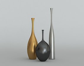 The sleek Reid Ryan and Regan Vases 3D