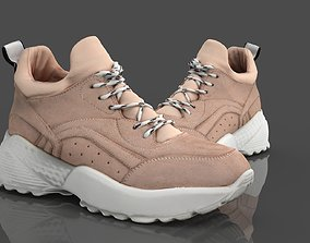 WOMAN SHOES 3D model game-ready