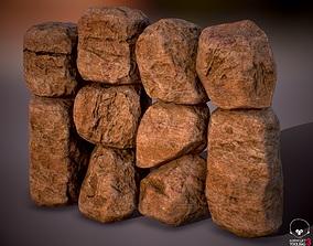 Boulder Rock Set 4K PBR Textures Var 01 3D model