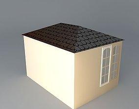 3D model 3.5mx 2.5m traditional summerhouse