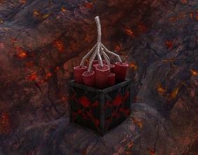 Low Poly Dynamite 3D model