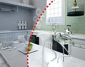 3D model Vintage Kitchen