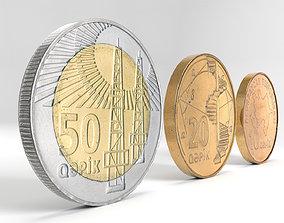 3D model Azerbaijan coin