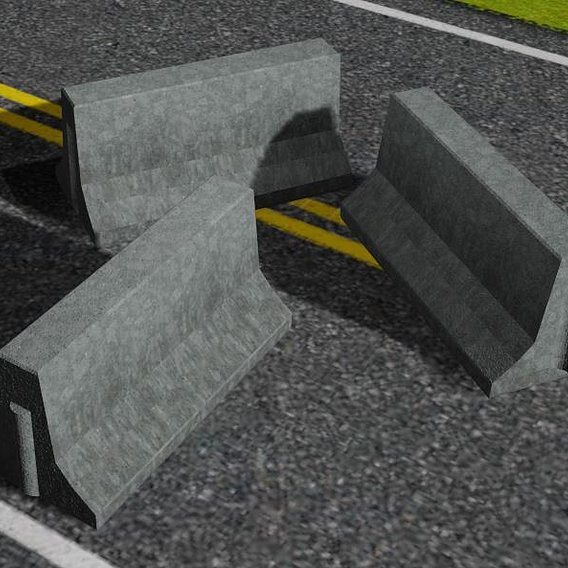 Free Sample Road block low-poly