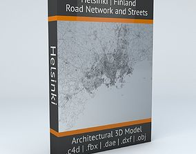 3D model Helsinki Area Road Network and Streets