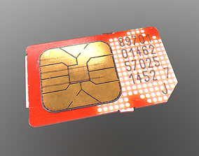 Mini SIM 3D asset realtime