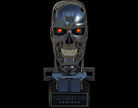 3D character Terminator Genisys T-800 Skull Bust