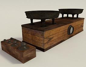 3D antique balance