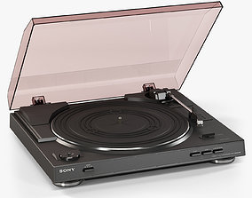 Sony PS-LX300USB Stereo Turntable 3D asset animated