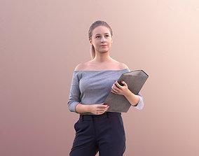 3D asset Elena 10662 - Business Woman Standing Holding A