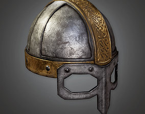 3D asset Ancient Metal Helmet TRS - PBR Game Ready