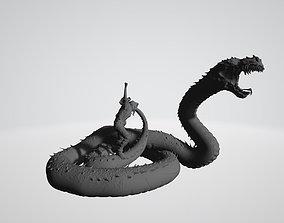 Salazar Slytherin summoning Basilisk 3D print model