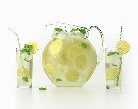 3D model Lemonade Set