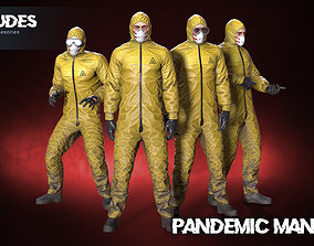 3D asset rigged Pandemic man 01