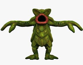 Monster Plant Character 3D Model low-poly