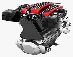 3D asset Tipo F116 - F133 V12 Engine AWD system
