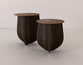 3D model Sine Solid Hardwood Side Table