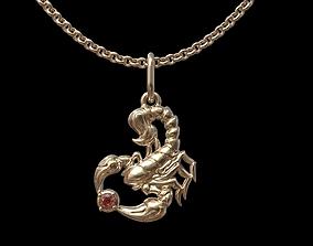 Scorpio pendant 3D print model gold