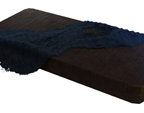 Damaged Old Matress And Blanket Prop - Game Ready 3D model
