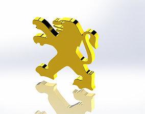 3D model Logo Peugeot