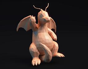 3D print model Dragonite - Stylized Pokemon LowPoly Art -