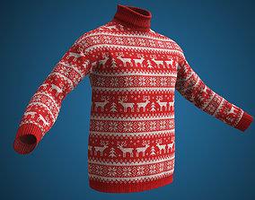 3D asset Christmas sweater