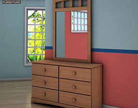 Ashley Benjamin Dresser Mirror 3D model