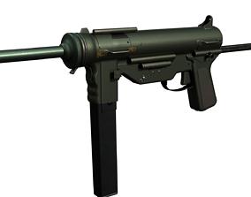 M3 Grease Gun 3D model rigged